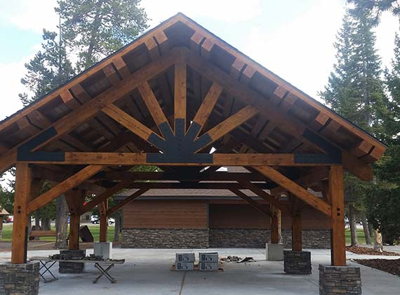 West Yellowstone Commercial Park Pavilion
