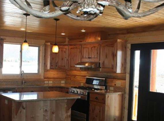 Arbogast Custom Log Home Kitchen 2