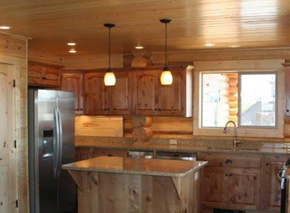 Arbogast Custom Log Home Kitchen