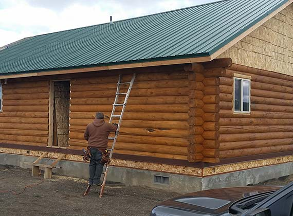 Bender Custom Cabin Exterior Construction 2