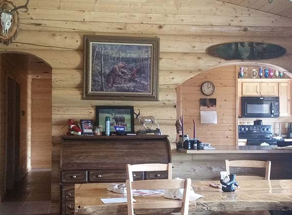 Hawks Interior Log Home