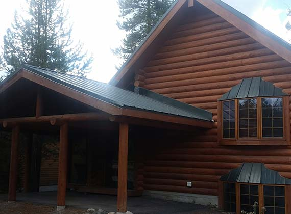 Jones Exterior Log Home