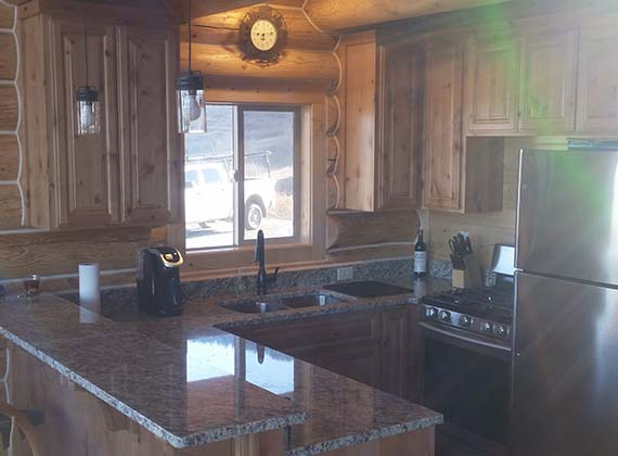 Krushensky Custom Log Home Kitchen