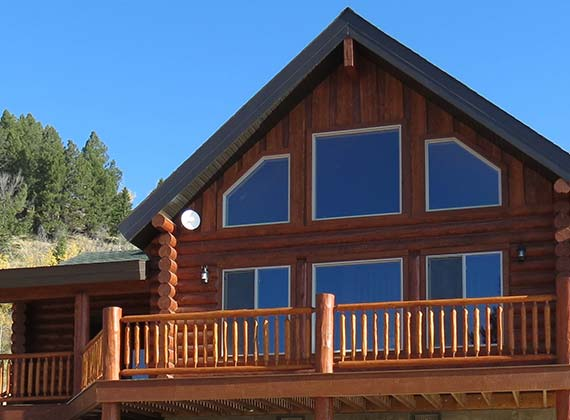 McDonough Exterior Custom Log Home 4