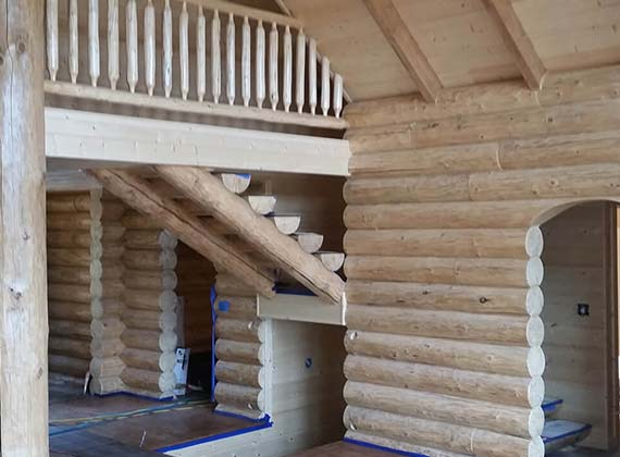 McDonough Interior Log Home